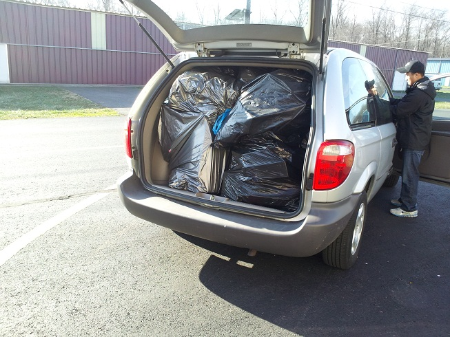 Van Loaded with Donations