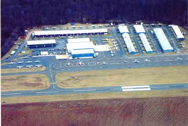 AERIAL VIEW OF PRINCETON AIRPORT HANGARS 2008