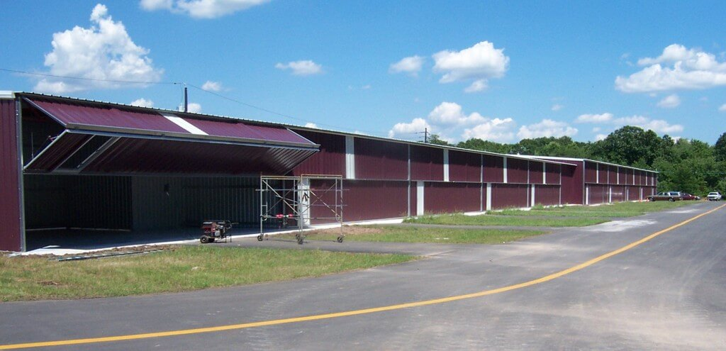 18 Barn Red Hangars at Princeton Airport - Completed & Occupied - August, 2003