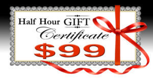 Half Hour Gift Certificate $99