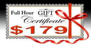Full Hour Gift Certificate $179