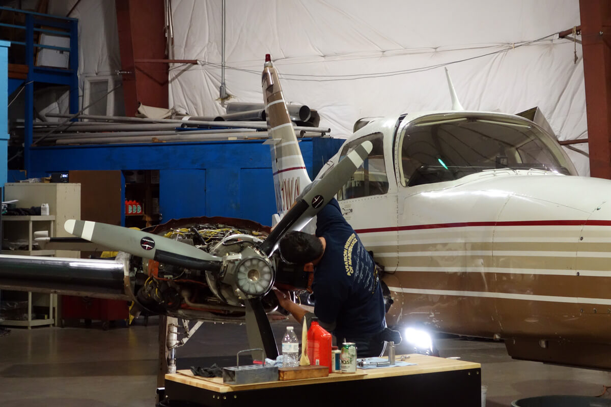 Princeton Airport experienced staff of certified mechanics assures you quality service on your aircraft.