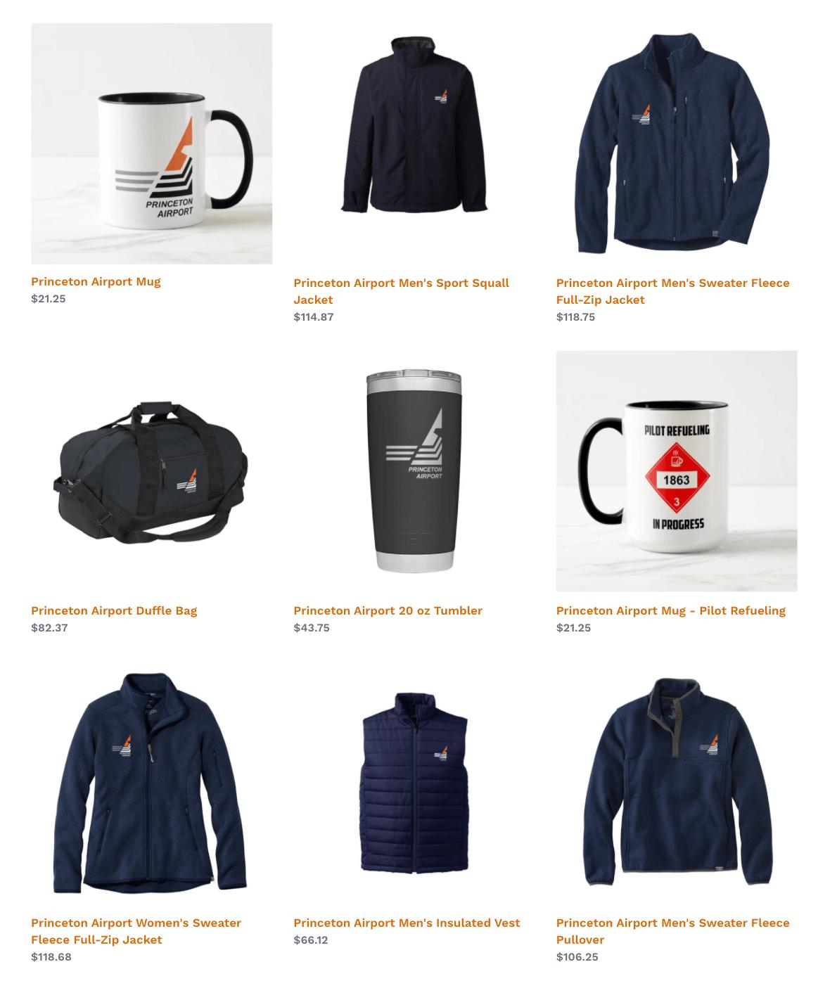 Princeton Pilot Shop Merchandise