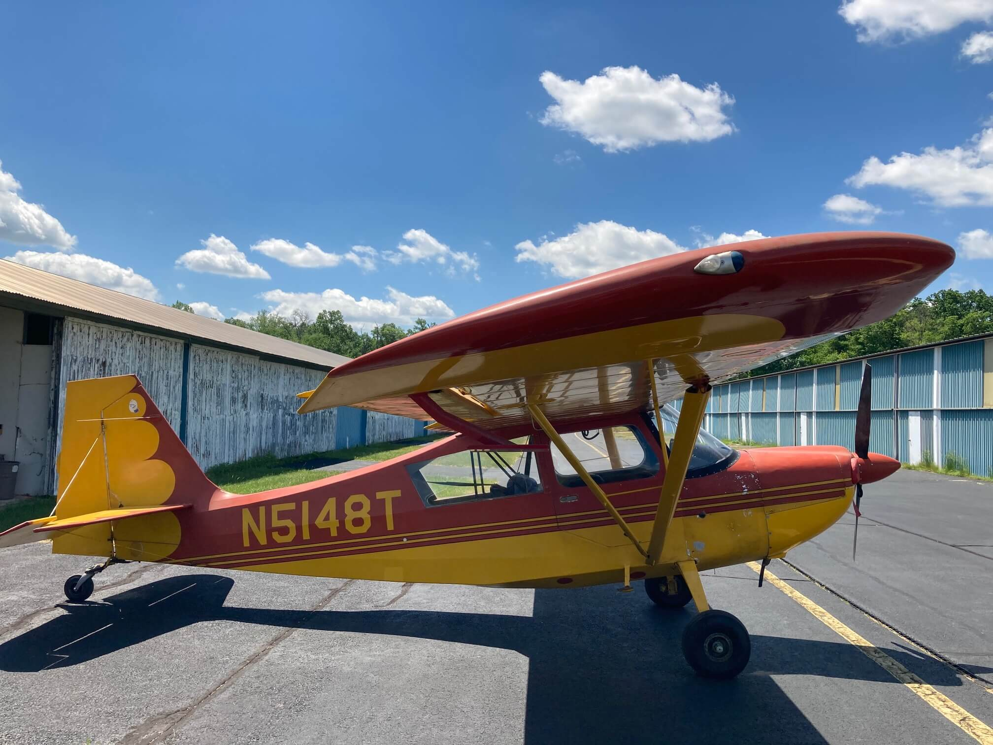 1967 American Champion FOR SALE at Princeton Airport - Contact Ken Nierenberg at 609-731-4628 for details